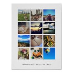 #photo - #Modern Instagram Photo Collage Poster