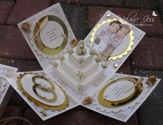 Wedding cake explosion box--PERFECT bridal shower gift!