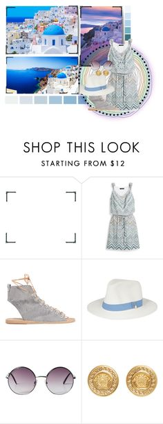 """One Last Time ♥"" by shyanimallover5 ❤ liked on Polyvore featuring C.O. Bigelow, White House Black Market, Ancient Greek Sandals, Melissa Odabash, Monki, Versace and Sevil Designs"
