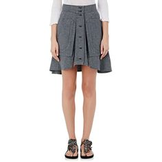 Isabel Marant Women's Nolina Cotton Chambray Miniskirt (1,725 AED) ❤ liked on Polyvore featuring skirts, mini skirts, dark grey, pocket skirt, short skirts, mini skirt, dark grey skirt and isabel marant skirt