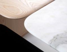 Collection Poise table et banc par Box Clever
