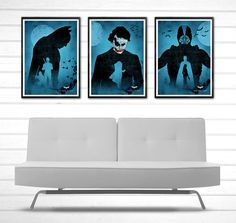 Batman The Dark Knight Trilogy Poster Set #Minimalism