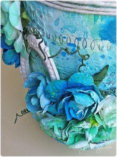 Le creazioni di Kiara for TANGRAM VERONA Mixed Media - ALTERED TIN www.creazionidikiara.blogspot.it