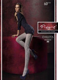 Blickdichte #Strumpfhose mit wunderschönem 3D-Muster Dakota von #Fiore