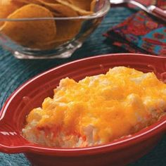 Buffalo Chicken Dip -- Just five ingredients, this is—incredibly quick and easy and, oh lord, how tasty! Definitely not for those looking to cut calories. It calls for canned chicken, but we eat of lot of rotisserie chicken at my house and I use the leftovers for this dip—I think it gives it more chicken-y flavor.   - Catherine Cassidy