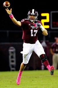 Mississippi State's Tyler Russell - The Bulldogs are 6-0 this season.