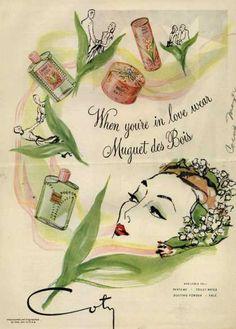 Coty's Muguet des Bois Cosmetics – When you're in love wear Muguet des Bois (1944)