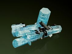 Aquamarine with Schorl - Namibia / Mineral Friends <3