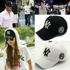 Black White Men Women Snapback NY YANKEES Caps adjustable Baseball Hip-Hop Hats  Ny 8133ea63d85
