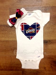 Cleveland Cavaliers Bodysuit AND Headband by BebeSucreOnline