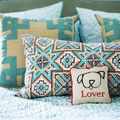 Updating your pillows with new covers is a fabulously easy way to spruce up your bedroom and add personality: http://www.bhg.com/decorating/budget-decorating/cheap/decorate-with-what-you-have/?socsrc=bhgpin010614pillowmakeover&page=11