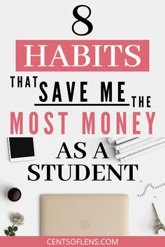 Do you want to learn how you can save MORE money as a student? Click through to find out which 8 habits save me the most money as a student. College Student Budget, College Dorm Essentials, College Life Hacks, College Students, College Checklist, College Dorms, College Tips, Ways To Save Money, Money Tips