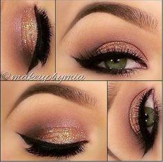 Pretty Glitter Eye Make Up.....
