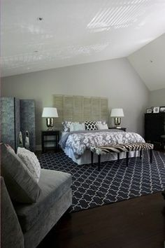 Bedroom Photos Makeshift Headboard Ideas Design, Pictures, Remodel, Decor and Ideas - page 9