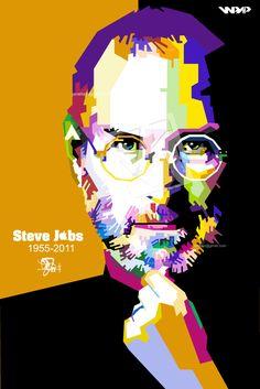 pop art portrait steve jobs - Google Search