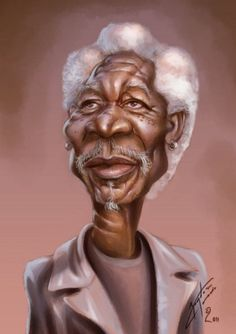 Morgan Freeman printed at Desigg.com life scribbles