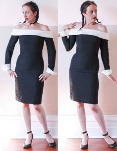 VTG 80's Black & White Formal DRESS // Tailored Fit by sideshowsam, $69.00