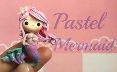 Pastel Mermaid | Polymer Clay ɞ