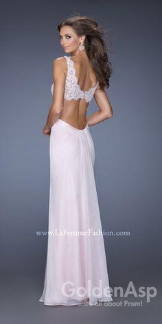 La Femme 20022 Prom Dress, from Golden Asp's selection of open back #prom dresses. Visit our #dress shop in Bensalem, Pennsylvania, or shop for open back dresses online at http://www.goldenaspprom.com/shop/dresses/style/open-back-prom-dresses #prom2015 #prom2k15