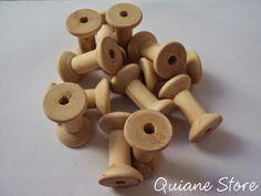 ARTESANATO COM QUIANE - Paps,Moldes,E.V.A,Feltro,Costuras,Fofuchas 3D: carretel retrô de madeira