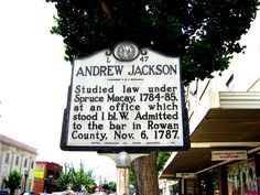 Andrew Jackson, Historical Marker, Rowan County, Salisbury NC by Bass Player Keith Hall, via Flickr