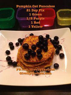 21 Day Fix Recipes - Pumpkin Oat Pancakes: