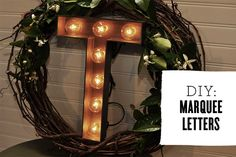 DIY: Marquee Letters