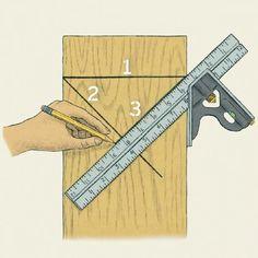 Norm's Techniques: Find the Centerline. #woodworkingtips