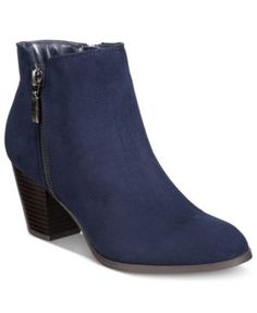 Style & Co Jamila Zip Booties, Only at Macy's - Blue 6M