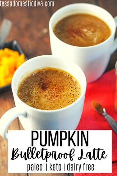 A pumpkin infused latte with healthy fats and protein for an ultra nourishing afternoon pick me up! Low carb and dairy free! Tea Recipes, Coffee Recipes, Pumpkin Recipes, Paleo Recipes, Low Carb Recipes, Real Food Recipes, Bad Carbohydrates, Keto Drink, Low Carb Breakfast