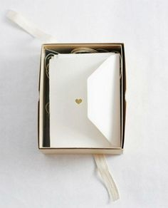 Hand-printed heart of gold stationery set from Besotted Brand