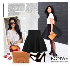 """""""High Waist Ruffle Skirt"""" by pavicmartina ❤ liked on Polyvore featuring Chicwish and Christian Louboutin"""