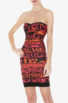 dc2b955b9c94 Black and White Herve Leger Strapless Dress Size Small  340 at Lollipuff Herve  Leger Dress