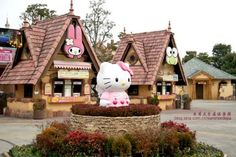 Hello kitty theme park - Japan and like OMG! get some yourself some pawtastic adorable cat apparel! Hello Kitty Themes, Miss Kitty, Kitty Kitty, Living Dolls, Sanrio Characters, Little Twin Stars, Beautiful Places To Visit, Japan Travel, Places To Go