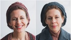 How Does a Demanding Role Take Its Toll? Jessica Hecht before and after as Golde in Bartlett Sher's Fiddler on the Roof (2015) revival. (photo by Monica Simoes)
