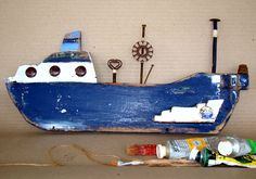 blue-2 little ship artist maria froudaki