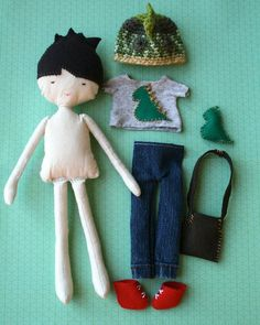 Sewing Pattern, sewing rag doll pattern stuffed toy pattern sewing cloth boy doll pattern, plush toy pattern (02) INSTANT DOWNLOAD