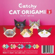 Only a few more left in stock! Cat Origami Vol.2 From Our Japan Shop now  http://catchy-boutique.com/products/catchy-cat-origami-vol-2?utm_campaign=crowdfire&utm_content=crowdfire&utm_medium=social&utm_source=pinterest  #papercraft #catlovers #origami #catgifts