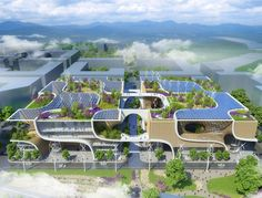 Vincent Callebaut designed a beautiful shopping center mimicking orchids that takes the guesswork out of conscientious consumerism in China