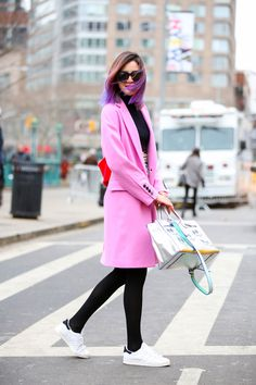 Below-Freezing NYC Street Style That's Still Fire #refinery29  http://www.refinery29.com/2015/02/82279/new-york-fashion-week-2015-street-style-pictures#slide-13  Color maestro Irene Kim shows basic black who's boss.