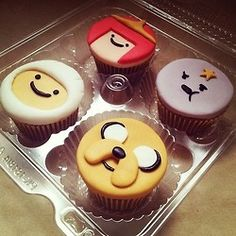 Adventure Time cupcakes! These must've been so hard to make!