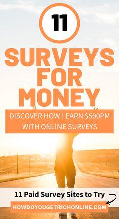 11 Trustworthy Survey Sites to Make Extra Money (Ultimate Guide) Best Online Survey Sites, Survey Websites, Online Surveys That Pay, Survey Sites That Pay, Surveys For Money, Paid Surveys, Make Money From Home, Way To Make Money, Make Money Online