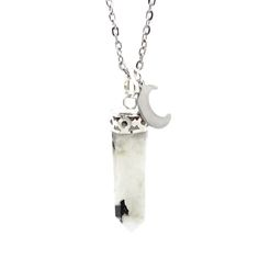 Image of Rainbow Moonstone Moonspell Necklace