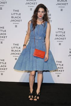 Astrid Bergès-Frisbey wore a Resort 2013 Chanel dress at the Chanel The Little Black Jacket exhibition launch in Sydney