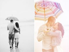 Dreamy Rainy Engagement Photos