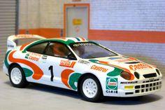 Scalextric Tecnitoys-Altaya. Toyota Celica GT-Four. Tour de Corse 1995. Didier Auriol-Denis Giraudet. #slotcar