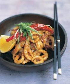 Neil Perry's chilli-salt squid. Photo by Ian Wallace