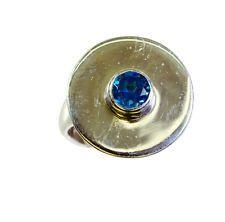 arresting Multi Gemstone Silver Multi Ring Designer L-1in US 5678