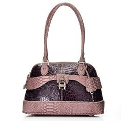 madi claire handbags | Madi Claire Croco & Snake Embossed Leather Double Handle Dome Satchel ...