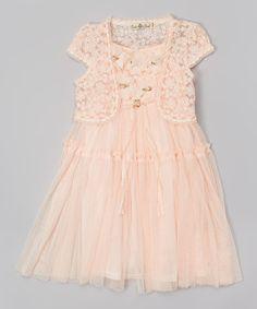 Look at this #zulilyfind! Pink Drop-Waist Dress & Shrug - Toddler & Girls by Bijan Kids #zulilyfinds
